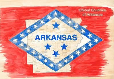 United Counties Of Arkansas Art Print by Egil Viesturson