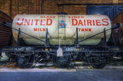 Photograph - United Daries Milk Tank by Ian Mitchell