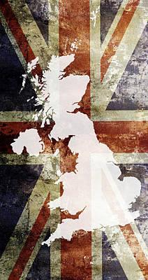 Wales Digital Art - United Kingdom  by Daniel Hagerman