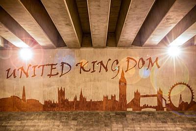 Photograph - United Kingdom Graffiti Skyline by Semmick Photo