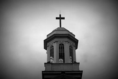 Photograph - United Methodist Steeple by Laurie Perry