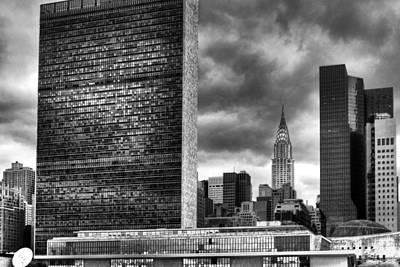 Photograph - United Nations And Chrysler Building by Dave Beckerman