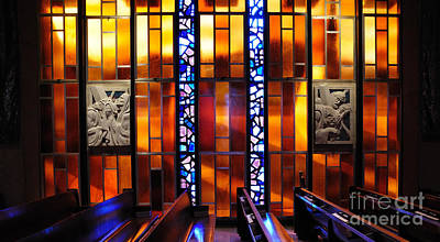 United States Air Force Academy Cadet Chapel Detail Art Print by Vivian Christopher