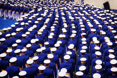 Colorado State University Photograph - United States Air Force Academy Graduation 2013 by Mountain Dreams