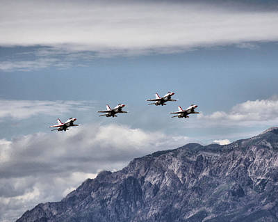 Photograph - United States Air Force Thunderbirds - 1 by Ely Arsha
