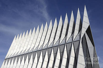 United States Airforce Academy Chapel Colorado Art Print by Bob Christopher