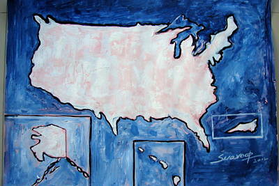 Painting - United States by Anand Swaroop Manchiraju