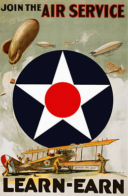 Army Air Service Painting - United States Army Air Service by Big 88 Artworks