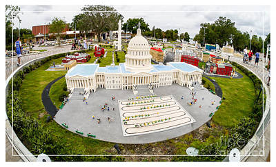 Senate Photograph - United States Capital Building At Legoland by Edward Fielding