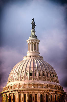 Photograph - United States Capitol Dome by Celso Diniz