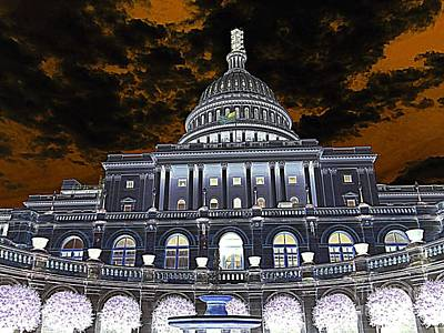 Photograph - United States Capitol by Ed Weidman