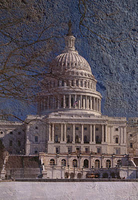 Whitehouse Photograph - United States Capitol by Skip Willits