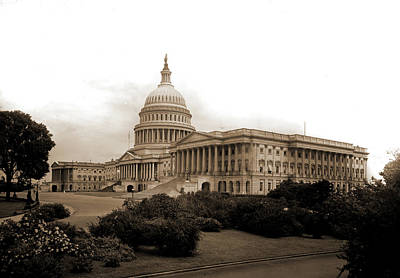 Washington D.c Drawing - United States Capitol, Washington, D.c, Capitols by Litz Collection