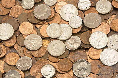 Photograph - United States Coins by Keith Webber Jr