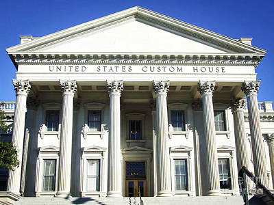Photograph - United States Custom House - Charleston Sc by Andrea Anderegg