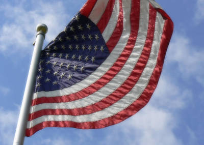Photograph - United States Flag In Soft Focus by MM Anderson