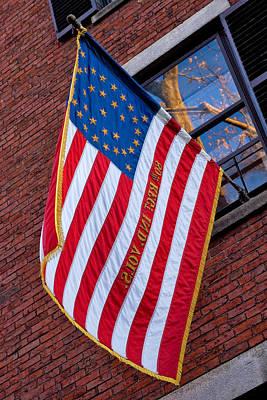 Us Flag Photograph - United States Flag On Acorn by Joann Vitali