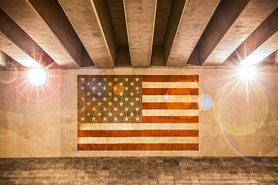 Photograph - United States Flag by Semmick Photo