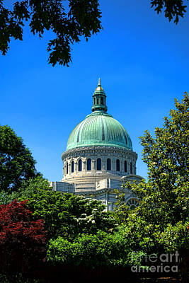 United States Naval Academy Chapel Art Print by Olivier Le Queinec