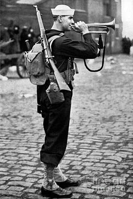 Photograph - United States Naval Bugler by Roberto Prusso