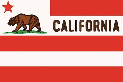 United States Of California Flag Art Print by Jera Sky