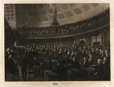 Senate Drawing - United States Senate Chamber  Designed By J by Litz Collection
