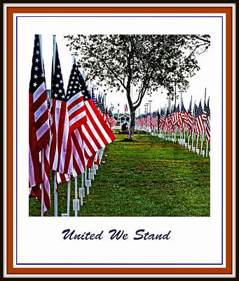 4th July Digital Art - United We Stand by Ella Kaye Dickey