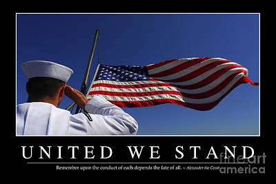 United We Stand Inspirational Quote Print by Stocktrek Images