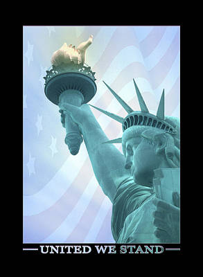 Statue Of Liberty Digital Art - United We Stand by Mike McGlothlen