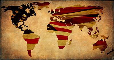 Photograph - United World Map by Athena Mckinzie