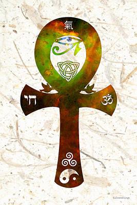 Unity 11 - Spiritual Artwork Art Print by Sharon Cummings