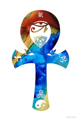 Unity 15 - Spiritual Artwork Art Print by Sharon Cummings