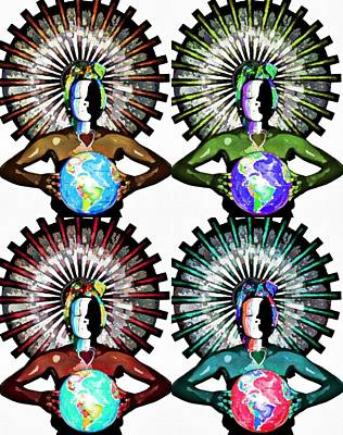 Unity-love-peace In This World Art Print