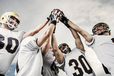 Unity Of American Football Players Art Print by Skynesher
