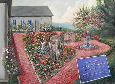 Unity Rose Garden  Art Print by Kenneth Stockton