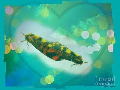 Love On A Windowpane Art Print by Leanne Seymour