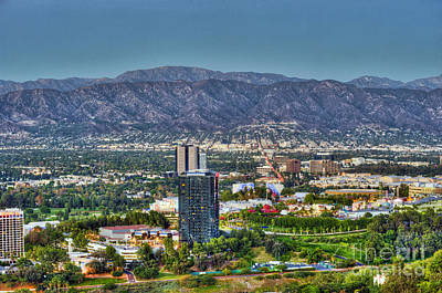 Photograph - Universal City Warner Bros Studios Clear Day by David Zanzinger