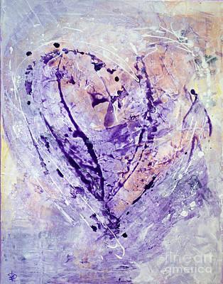 Universal Heart Pastel Purple Lilac Abstract By Chakramoon Art Print by Belinda Capol
