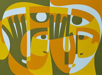 Universal Light Within 2, 1989 Acrylic On Board Art Print