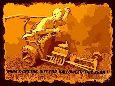 Universal Mosters Mummys Chariot Card Art Print by John Malone