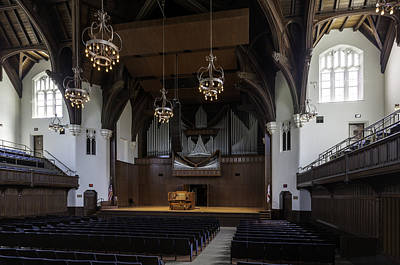 University Auditorium And The Anderson Memorial Organ Art Print by Lynn Palmer