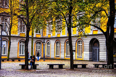 Photograph - University Courtyard Bonn by Rick Bragan