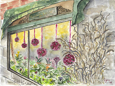 Painting - University Florist by AFineLyne