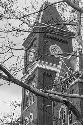 Spot Of Tea Royalty Free Images - University Hall Tower Black and White  Royalty-Free Image by John McGraw