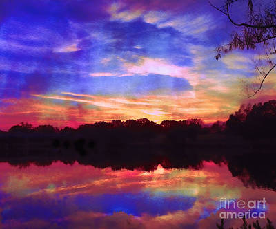 Photograph - University Lakes At Twilight by Judi Bagwell