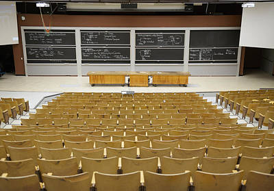 Photograph - University Lecture Hall by Martin Shields