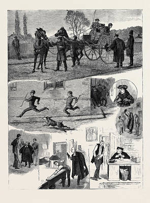 Deadly Drawing - University Life At Oxford, The Proctor 1. Tandem Driving by English School