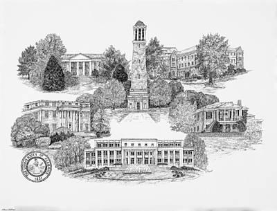 University Of Alabama Art Print by Liz Bryant