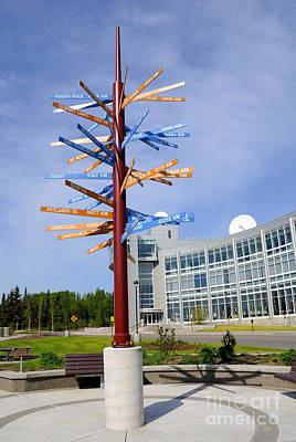 University Of Alaska Fairbanks Milepost Art Print