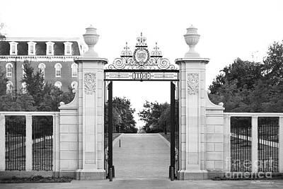 University Of Arkansas Photograph - University Of Arkansas Centennial Gate by University Icons